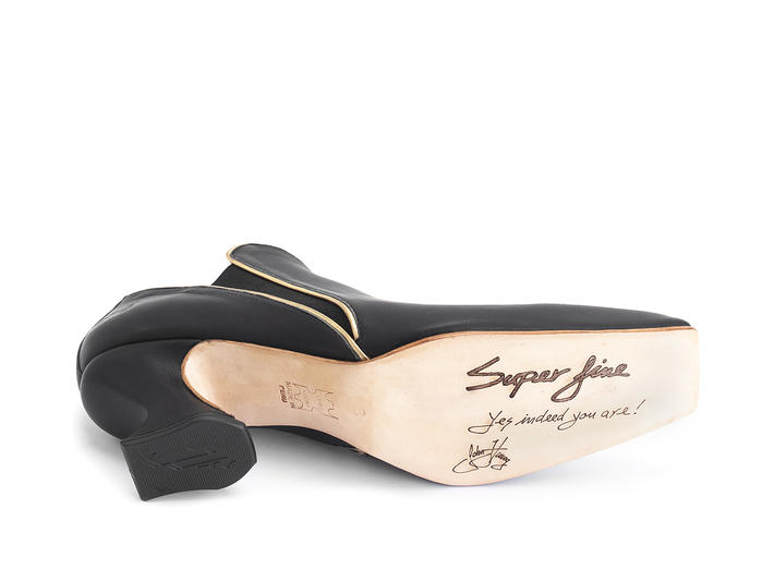 Prestige Black/Gold Slip-on heel