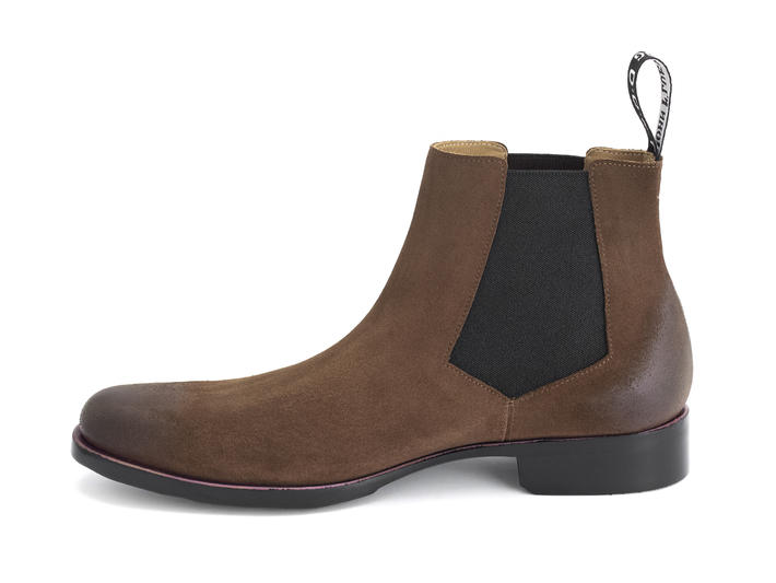 1224 Stark St Brown Leather chelsea boot