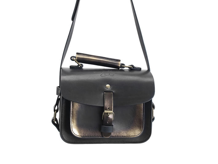 Stephanie Bag Black/Gold Camera Style Bag