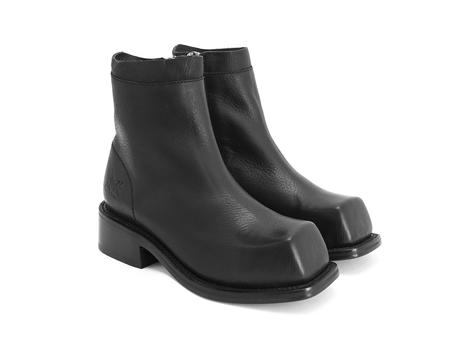 Fonda Black Square toe ankle boot