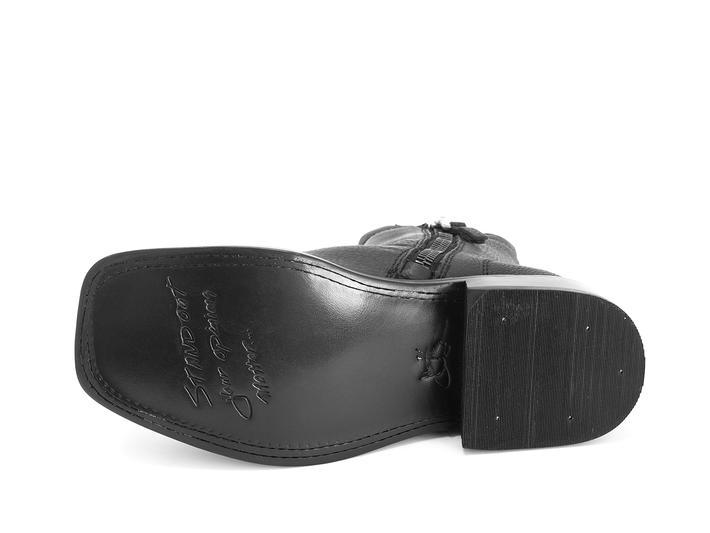 Fonda Black Square toe ankle boot