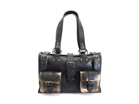 Anna Black/Bronze Convertible tote bag