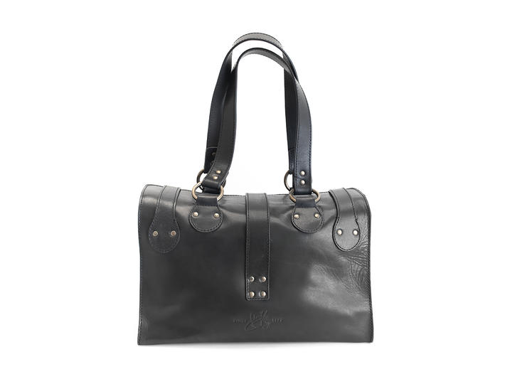 Anna Black/Bronze Convertible tote bag