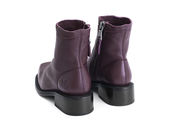 Fonda Purple Square toe ankle boot