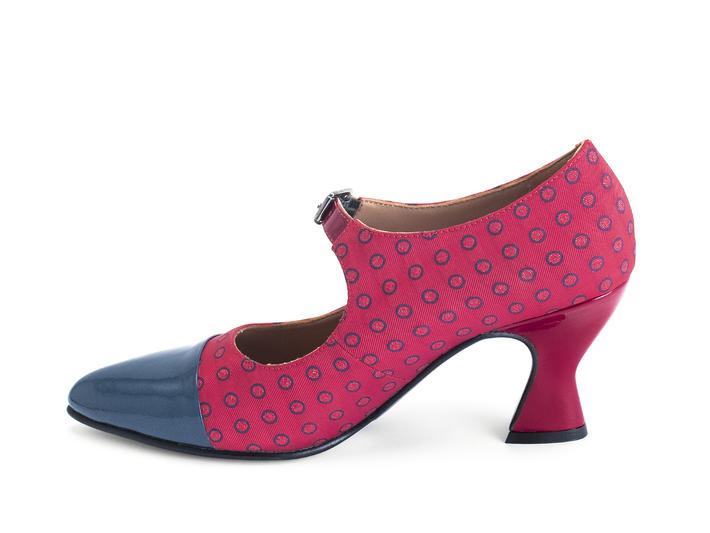Shiloh Red/Dots elegant mary jane heel