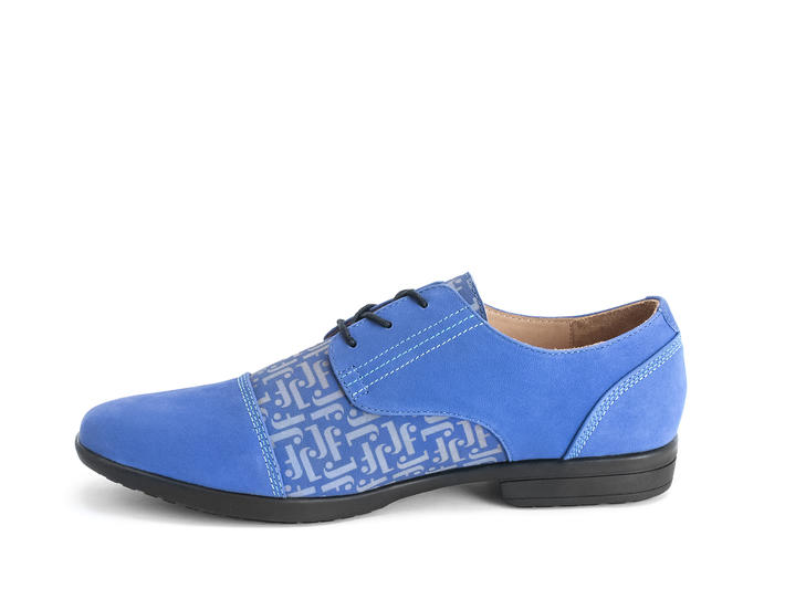 Breton Blue/JF Monogram Leather derby shoe