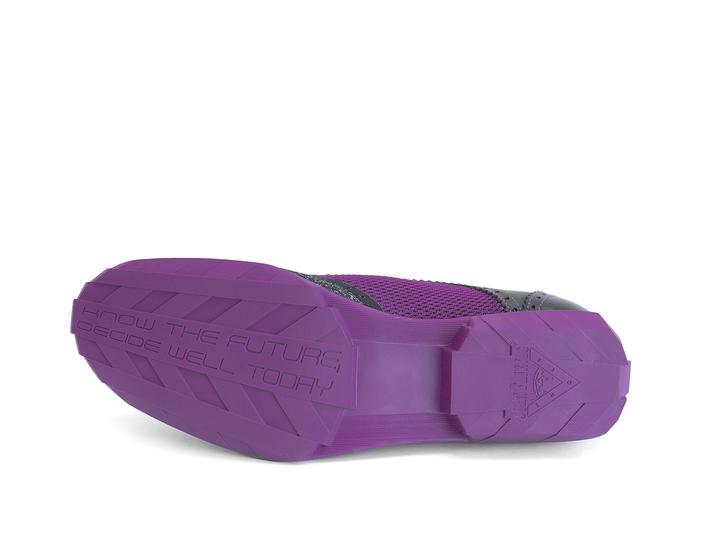 Orbit Black/Purple Brogued Wingtip Derby