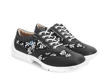 Brandon Black/JF Monogram Contrast lace-up sneaker