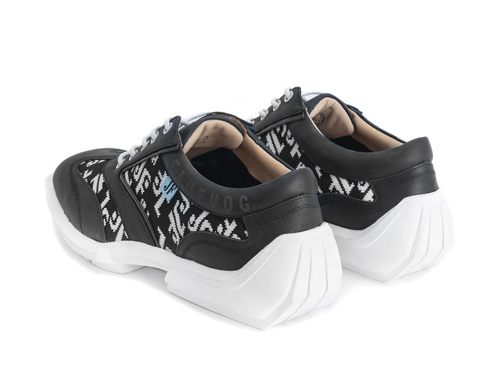 Brandon Black/JF Monogram Contrast lace-up sneaker