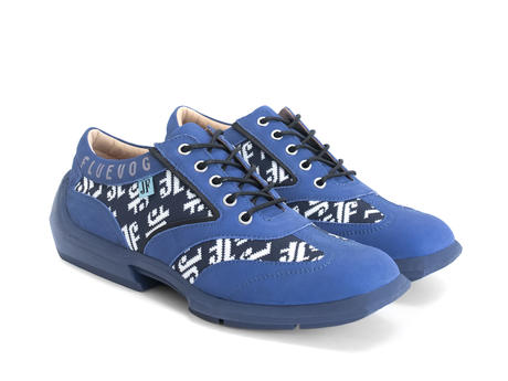 Brandon Blue/Black Contrast lace-up sneaker