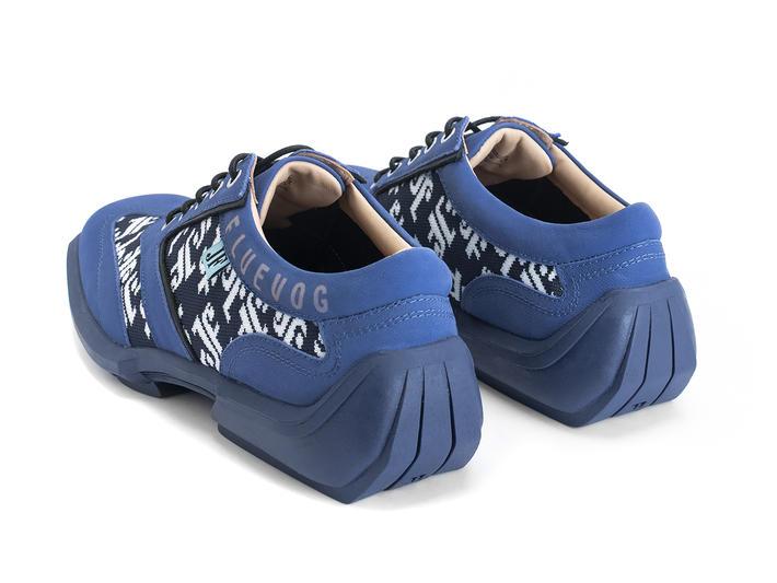 Brandon Blue/Black Contrast lace-up sneaker