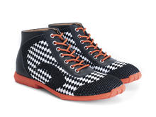 Nebula Black/Orange/Vegan Sporty lace-up boot