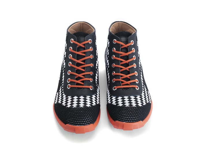 Nebula Black/Orange Sporty lace-up boot