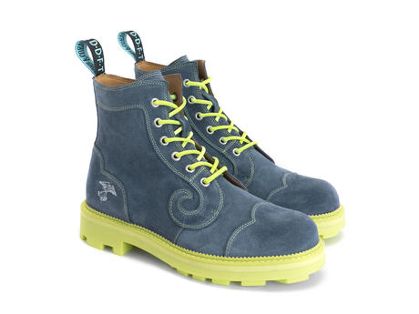 Derby Swirl (6 Oeillets) Denim Classic Derby Boot