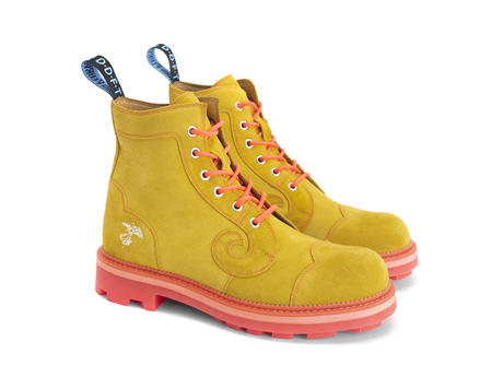 Derby Swirl (6 Oeillets) Yellow Classic Derby Boot