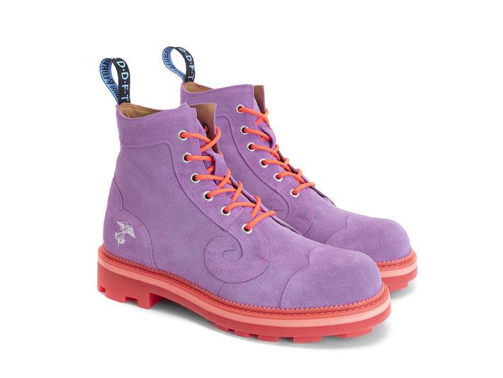 Derby Swirl (6 Eye) Purple Classic Derby Boot