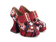 Original Red Floral/Stripes/Dots Baroque platform heel