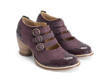 Kitchener Purple Triple strap mary jane