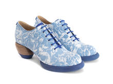 Waymouth Blue Embossed Lace-up shoe