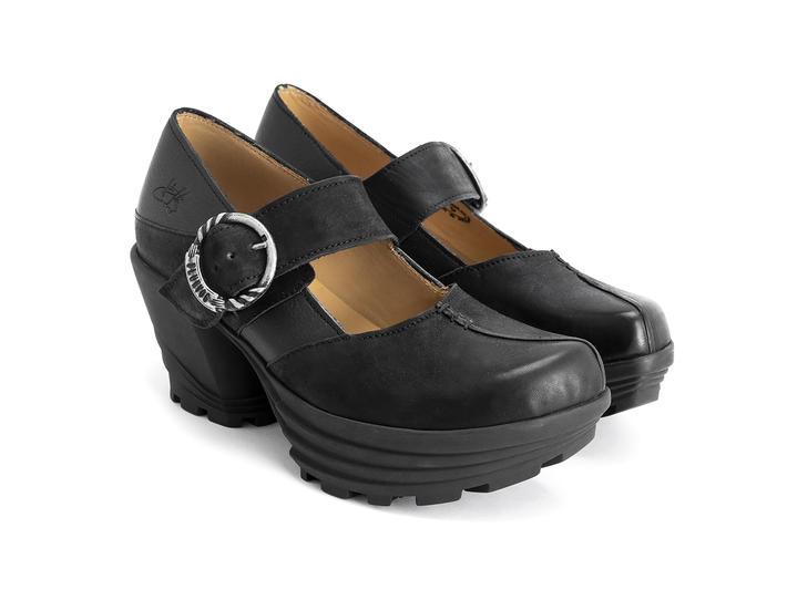 Sonata Black Rubber platform mary jane