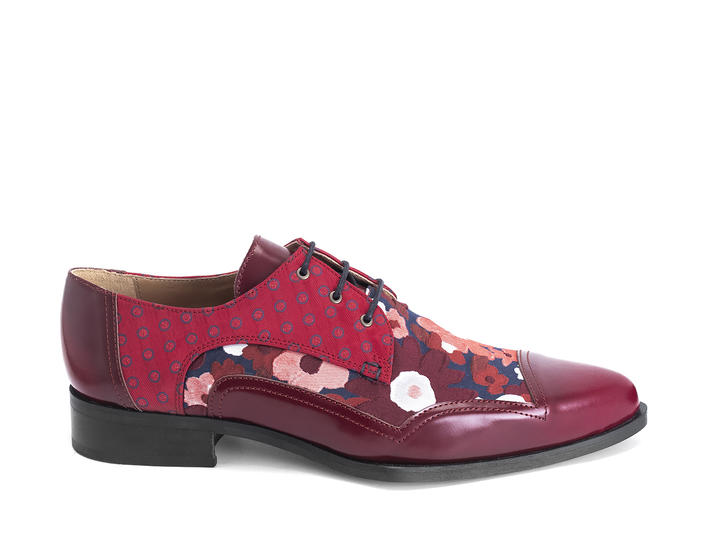 Master Red/Dots Ornate derby shoe