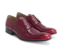 Luciano Red Sleek derby shoe