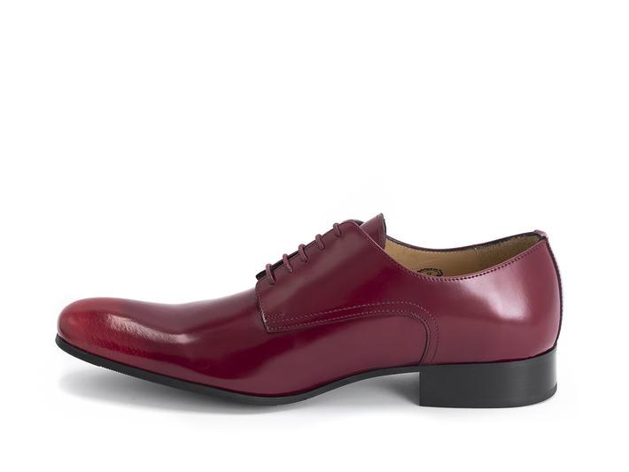 Luciano Red Sleek derby shoe