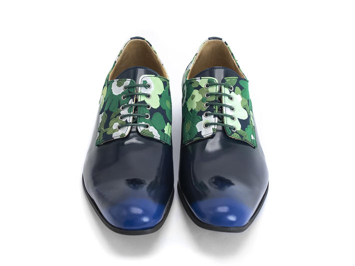 Luciano Blue/Floral Sleek derby shoe