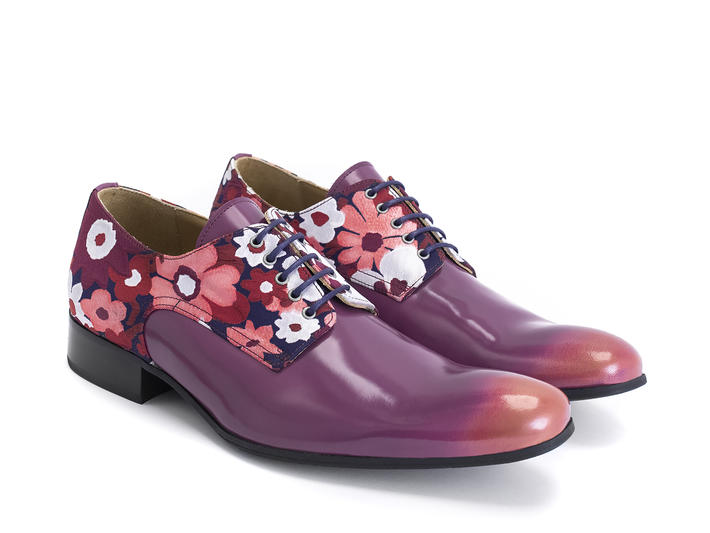 Luciano Pink/Floral Sleek derby shoe