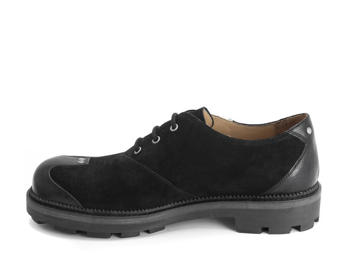 Henk Black/Metallic Contrast derby shoe