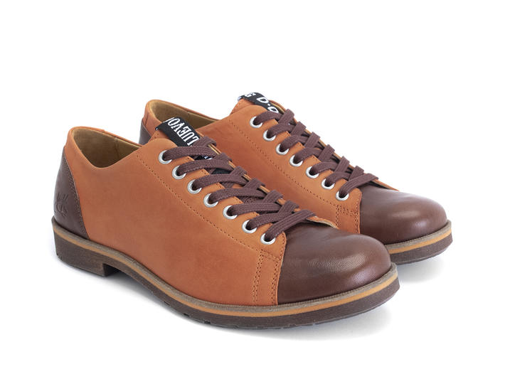 Putra Orange Modern derby shoe