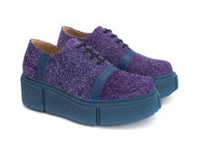 Tycho Purple Fuzzy platform shoe