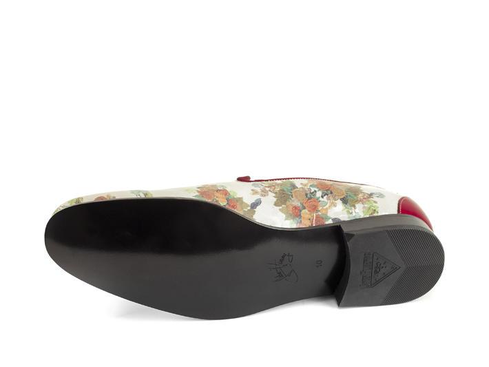 Tobias White/ Floral elegant loafer