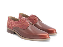 Ace Face Orange/Paisley Simple derby lace-up