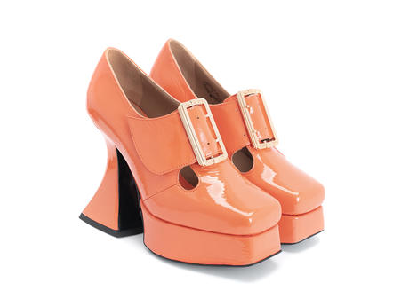 Original Orange Baroque platform heel