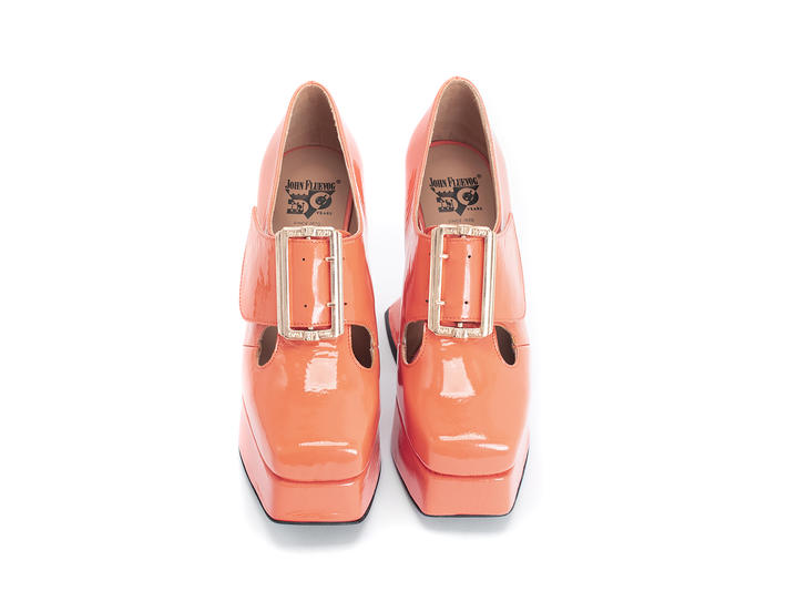 Original Orange Baroque platform heel