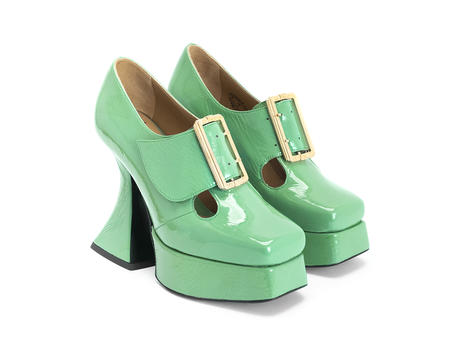 Original Green Baroque platform heel