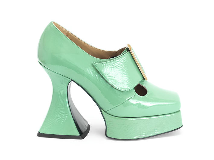 Original Green Baroque platform heel