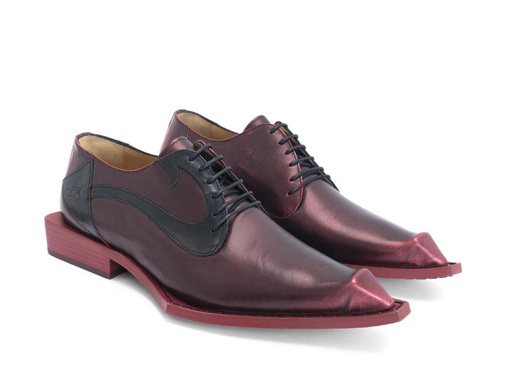 DIO: MEN'S Red Devil tail dress shoe