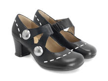 Petrella Black Mary jane with large studs