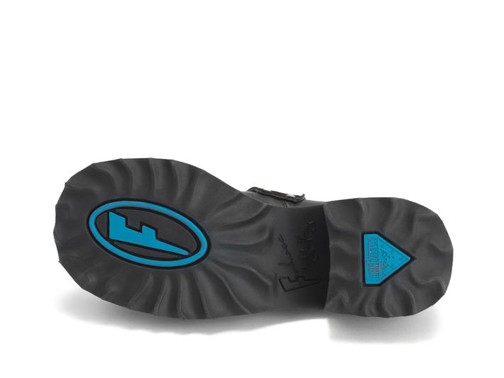 Asta Black Buckled platform shoe
