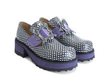 Asta XO/Purple Buckled platform shoe