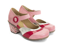 Bliss Pink/Red Single strap sandal
