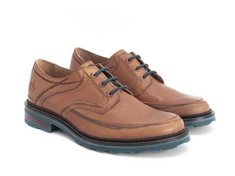 Dublin Brun Chaussure Derby avec traits de pinceaux