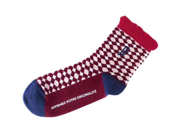 Adeline Vog Socks Red/White Floral pattern socks