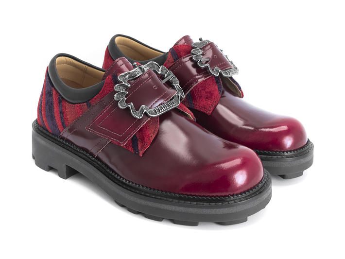 Johane Red Angel shoe with custom buckle