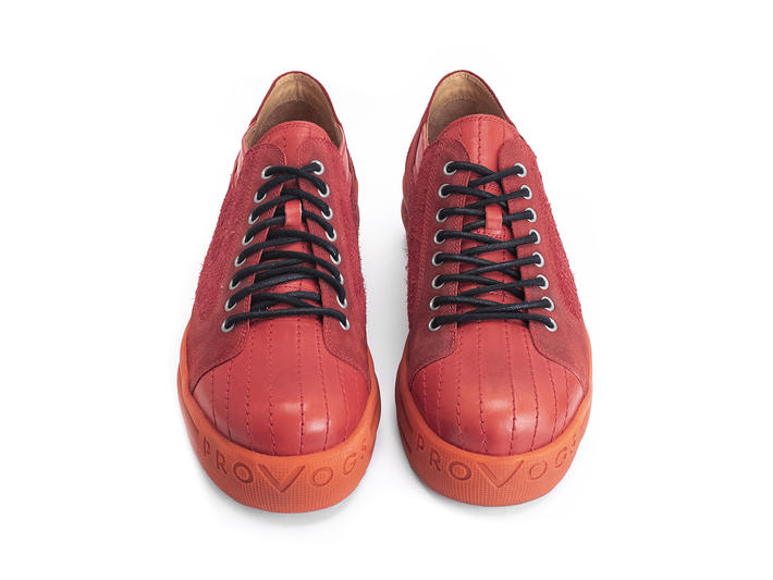 PV1 Red Platform sneaker