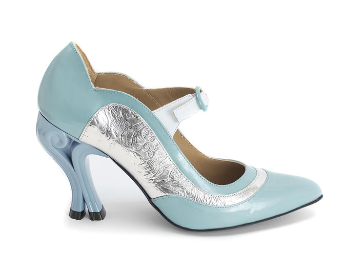 Aquila Blue/Silver Elegant mary jane