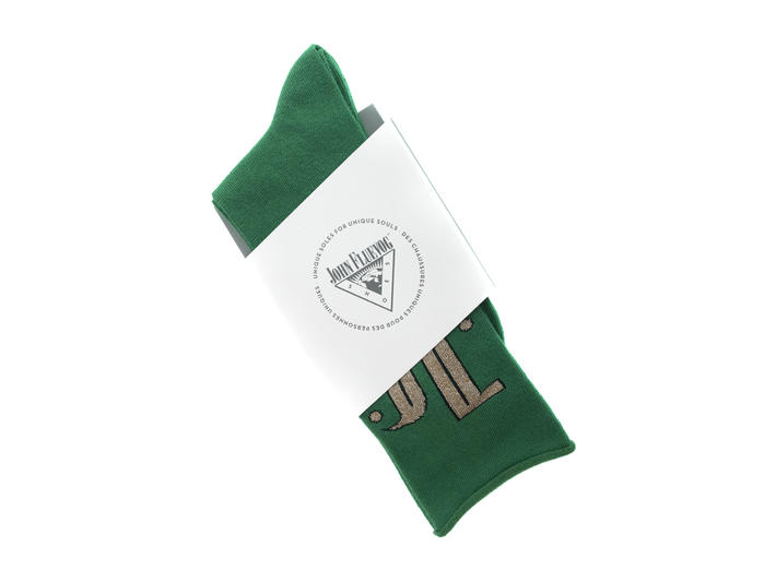 Large Monogram Vog Socks Green JF monogram sock
