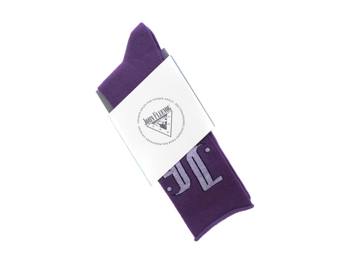 Large Monogram Vog Socks Purple JF monogram sock